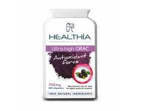 Healthia  Ultra High ORAC - Antioxidant Force 700mg αντιοξειδωτικά από βιοενεργά συστατικά: ρεσβαρατρόλη, κουκούτσι από σταφύλι και ρόδι 100caps