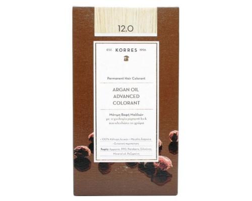 KORRES 12.0 Βαφή Μαλλιών με Έλαιο Argan & φυτική Κερατίνη ΞΑΝΘΟ 50ml