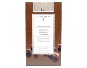 KORRES 10.1 Βαφή Μαλλιών με Έλαιο Argan & φυτική Κερατίνη, ΞΑΝΘΟ ΠΛΑΤΙΝΑΣ ΣΑΝΤΡΕ, 50ml
