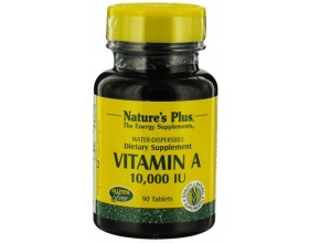 Nature's Plus Vitamin A 10000 IU 90 ταμπλέτες, Βιταμίνη Α για την Καλή Υγεία των Ματιών, του Δέρματος & των Οστών και την ενίσχύση του Ανοσοποιητικού Συστήματος