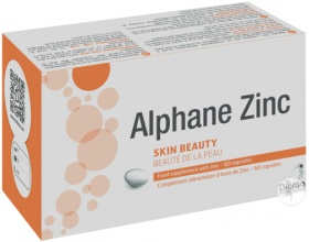 Biorga Alphane Zinc 60tabs, Συμπλήρωμα Διατροφής με Ψευδάργυρο με Ισχυρή Αντιφλεγμονώδη, Αντισμηγματορροϊκή & Αντιβακτηριακή Δράση