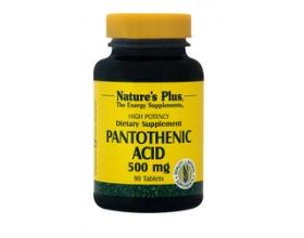 Nature's Plus Pantothenic Acid 500 mg 90 tabs, Συμπλήρωμα Διατροφής γνωστό και σαν «βιταμίνη κατά του στρες», αποτελεί ουσιώδες συστατικό του συνενζύμου A και είναι απαραίτητο για την παραγωγή κορτιζόνης και άλλων ζωτικής σημασίας στεροειδών ενώσεων