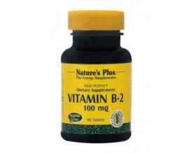 Nature's Plus Vitamin B2 (Ριβοφλαβίνη) 100 mg 90 tabs, Στηρίζει το Σχηματισμό των Ερυθρών Αιμοσφαιρίων, το Μεταβολισμό των Λιπών & των Υδατανθράκων & την καλή υγεία του Νευρικού Συστήματος