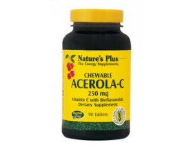 Nature's Plus Acerola-C Complex 250 mg 90 chewable tabs, Συνπλήρωμα Διατροφής που ενισχύει το ανοσοποιητικό και βοηθάει να αντιμετωπιστούν οι αλλεργίες, κρυολογήματα και οι έρπεις