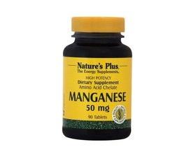 Nature's Plus Manganese 50 mg 90 tabs, Συμπλήρωμα Διατροφής που βοηθά στον μεταβολισμό της γλυκόζης και του ασβεστίου και βελτιώνει φλεγμονώδεις καταστάσεις, όπως η ρευματοειδής αρθρίτιδα