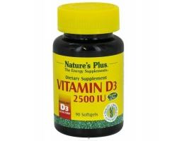 Nature's Plus Vitamin D3 2500 IU 90 softgels, Είναι απαραίτητη για την απορρόφηση του ασβεστίου και του φωσφόρου από τον οργανισμό, για την υγεία των οστών, των δοντιών και των μυών καθώς και για την ισχυροποίηση του ανοσοποιητικού συστήματος