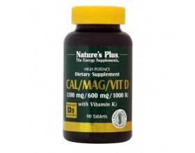 Nature's Plus Cal/Mag/Vit D3 90 tabs, Φόρμουλα που  εξειδικεύεται για παθήσεις των οστών όπως οστεοπόρωση, οστεοπενία