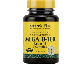 Nature's Plus Vitamin Mega B 100 60 tabs, Βιταμίνη B 100 για την Καλή Υγεία του Νευρικού & Ανοσοποιητικού Συστήματος και για Υγιή Μαλλιά & Δέρμα