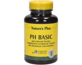 Nature's Plus Basic PH 60 veg.caps, Special formula with components to remove the unnecessary acid and maintaining the alkalinity of the blood