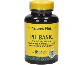 Nature's Plus Basic PH 60 veg.caps, Ειδική φόρμουλα με συστατικά για την απομάκρυνση των περιττών οξέων και τη διατήρηση της αλκαλικότητας του αίματος