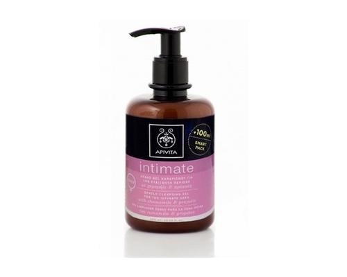 Apivita Intimate Care Daily 300ml, Απαλό Τζελ Καθαρισμού για την ευαίσθητη περιοχή με χαμομήλι και πρόπολη