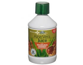 Optima Aloe Vera Juice with Monuka Honey 500 ml, Φυσικός χυμός Αλόης σε συνδυασμό με μέλι manuka, για την καλή λειτουργία & τη διατήρηση ενός υγιούς πεπτικού συστήματος