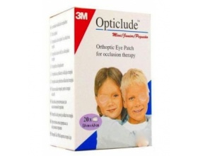 3M Opticlude Mini Junior 5.0cm x 6.0cm Οφθαλμικά Αυτοκόλλητα Επιθέματα 20 Τεμάχια
