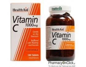 Health Aid, Vitamin C, 1000mg Chewable, 100 Tablets
