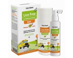 Frezyderm, Lice Free Set, Αντιφθειρική Αγωγή Σαμπουάν & Λοσιόν, 2x125ml
