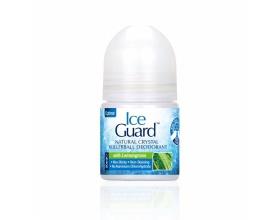 Optima, Ice Guard Natural Crystal Deodorant Rollerball, Υποαλλεργικό Αποσμητικό απο Φυσικά Μεταλλικά Άλατα με Λεμονόχορτο, 50ml