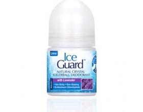 Optima, Ice Guard Natural Crystal Deodorant Rollerball, Υποαλλεργικό Αποσμητικό απο Φυσικά Μεταλλικά Άλατα με Λεβάντα, 50ml