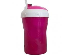 Primamma 800, Ποτηράκι 2 σε 1, 12m+, με Καλαμάκι Σιλικόνης & Καπάκι Ασφαλείας, Ιδανικό για τη Βόλτα του Μωρού, Χρώμα Ρόζ, 280 ml