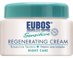Eubos Sensitive Regenerating Night Cream,Αναπλαστική κρέμα νύχτας κατά της πρόωρης γήρανσης του δέρματος,Ενυδατώνει & υποβοηθά την ανάπλαση των κυττάρων,50ml