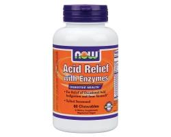 Now Foods Acid Relief, Εξουδετέρωση & την Ανακούφιση από τα Οξέα του Στομάχου,60chew tabs