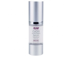 Now Foods CoQ10 Antioxidant Serum, Ορός για τη Φυσική Αποκατάσταση των Ζημιών & Ελαττωμάτων του Δέρματος, 29.6ml