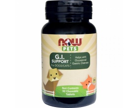 Now Foods G.I. Support for dogs and cats Συμπλήρωμα διατροφής με προβιοτικά, 90chew tabs