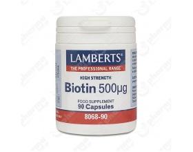 LAMBERTS BIOTIN 500MCG,  90 caps