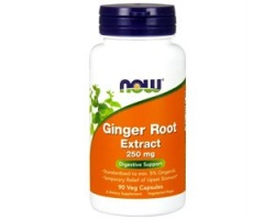 Now Foods Ginger Root Extract 250 mg, Συμπλήρωμα διατροφής από Τζίντζερ, 90 vcaps