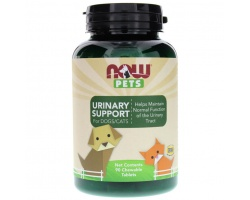 Now Foods urinary support for dogs and cats Συμπλήρωμα διατροφής για υγιές ουροποιητικό σύστημα, 90chew tabs