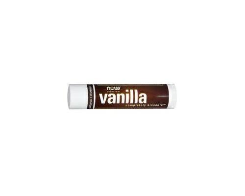 Now Foods Vanillat Completely Kissable Lip Balm Φυσικό Lip Balm για Ξηρά & Σκασμένα Χείλη,με άρωμα βανίλιας με γεύση δύοσμο 4,26 gr