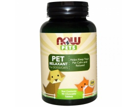Now Foods pet relaxant Συμπλήρωμα διατροφής για χαλάρωση και ηρεμία, 90chew tabs