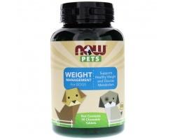 Now Foods weight managment for dogs Συμπλήρωμα διατροφής για την διαχείρηση και απώλεια βάρους, 90chew tabs