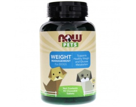 Now Foods weight managment for dogs Συμπλήρωμα διατροφής για την διαχείρηση και απώλεια βάρους, 90chew tabs