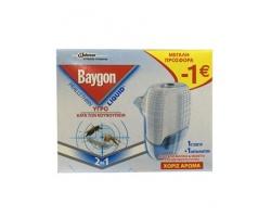 Baygon Liquid Υγρό προσφορά  -1€, 27 ml + 1 Ανταλλακτικό