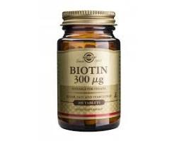 Solgar Biotin 300μgΕνίσχυση μαλλιών, δέρματος & βλενογόννων 100tabs