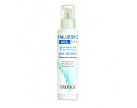 Froika Hyaluronic AHA-10 Milk, Γαλάκτωμα Προσώπου και Σώματος για Λεύκανση, Απολέπιση και Peeling, 125ml