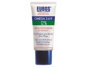 Eubos Omega 3-6-9 Face Cream Defensil Καταπραϋντικό Γαλάκτωμα Προσώπου με Ωμέγα Λιπαρά Οξέα, για το Ξηρό, Ευαίσθητο με τάση για Έκζεμα & Eρυθρότητα Δέρμα, 50 ml