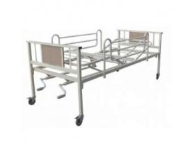 Kρεβάτι νοσοκομειού με 2 μανιβέλες πλήρες, 1 τεμάχιο