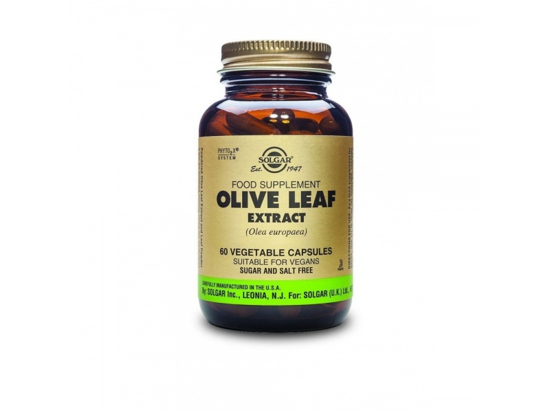 Solgar SFP Olive Leaf Extract, Standard Olive Leaf extract, with strong  antioxidant, antibacterial and antiviral properties, 60caps