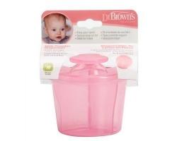 Dr. Brown's Milk Powder Dispenser Δοχείο Μεταφοράς Γάλακτος Ροζ, 1 τμχ
