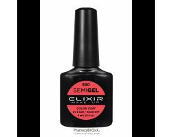 Elixir semigel uv/led, Ημιμόνιμο βερνίκι no830,Dark Coral, 8ml