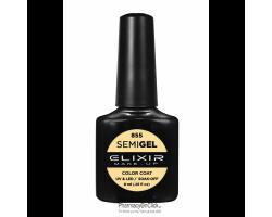 Elixir semigel uv/led, Ημιμόνιμο βερνίκι no855, Pastel Yellow, 8ml