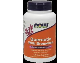 Now Foods Quercetin 800 mg με Bromelain, Συμπλήρωμα Διατροφής με ισχυρές αντιοξειδωτικές ιδιότητες, 120 κάψουλες