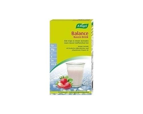 A. Vogel Balance Base Drink Ρόφημα Φυσικής Αλκαλοποίησης & Εξισορρόπησης του pH του Οργανισμού, με Γεύση Φράουλας, 14 Φακελάκια