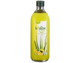Kaloe Vital Genomed, 100% Φυσικός χυμός Κρητικής Αλόης σε τζελ με γλυκαντικά απο το φυτο Stevia, με γεύση λεμόνι 1lt