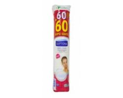 SEPTONA Lady Care make up remover cotton pads Δίσκοι ντεμακιγιάζ διπλής όψης 60pcs + 60pcs