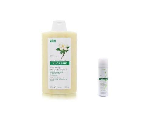 KLORANE Shampoo ΜΑΝΩΛΙΑ 400ml + ΞΗΡΟ ΣΑΜΠΟΥΑΝ ΒΡΩΜΗΣ 50ml