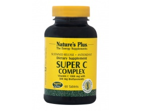 Nature's Plus Super C Complex 1000 mg,60 ταμπλέτες βραδειάς αποδέσμευσης