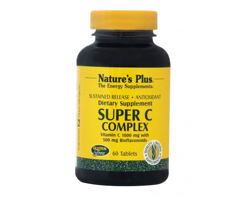 Nature's Plus Super C Complex 1000 mg,60 ταμπλέτες βραδειάς αποδέσμευσης