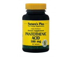 Nature's Plus Pantothenic Acid 500 mg, 90 tabs